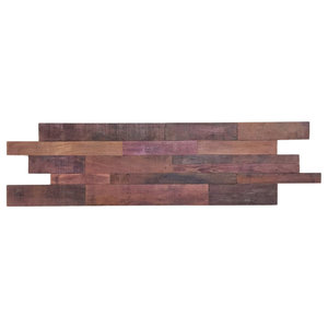 3 Sq. Ft. Reclaimed Wood Wall Panels, Wine Soaked