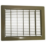 """Continental Industries - Heavy Gauge Steel Floor Return Air Grill, 16""""x30"""" - Improve your floor returns with one of our Heavy Duty Steel Floor Grills that come in a durable medium tan color finish. These floor grills are 100% steel constructed and allow for 75% of air to flow through the air vent.  Our 16"""" x 30"""" floor grill is designed for a hole opening that is 16"""" x 30"""" and will have overall faceplate dimensions of 17 13/16"""" x 31 13/16"""". When replacing your vent, be sure to measure the size of the hole opening in the floor instead of the size of your current floor grill. These grills are designed to withstand in areas that handle heavy foot traffic."""