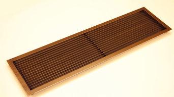 Стальные жалюзийные решетки с покрытием под латунь со старением