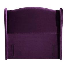 Gabrielle Standard Headboard, Plush Purple, King Size 162 cm
