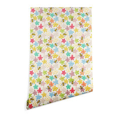 Deny Designs Sharon Turner Indian Summer Flowers Bees Wallpaper, Multi, 2'x10'