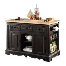 ACME Ariuk Kitchen Cabinet, Black