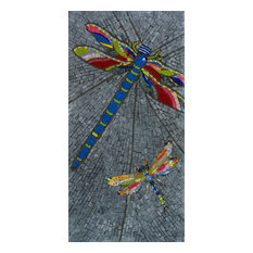 "Mosaic Patterns- Dragonflies, 12""x24"""
