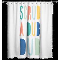 Scrub A Dub Dub Bright Tones Design 71x74 Shower Curtain