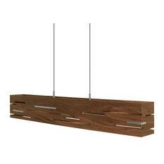 Aeris 30 LED Linear Pendant, Oiled Walnut/Brushed Aluminum