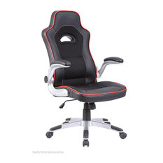 Black With Red Trim Racing Office Chair