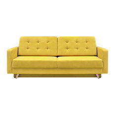 Meble Furniture Rugs Vegas Futon Sofa Bed Queen Sleeper With Storage Yellow