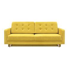meble furniture u0026 rugs vegas futon sofa bed queen sleeper with storage yellow