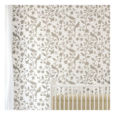 Birds on a Vine Wall Stencil, Reusable Stencils for a Home Makeover