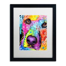Dean Russo 'Closeup Labrador' Framed Art, 16x20, Black Frame, White Mat