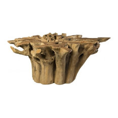 60 Long Dining Table Base Solid Teak Wood Root Free Form Sculpture