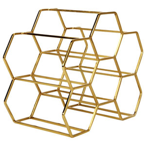 Pico 6 Stackable Wine Rack, Brass