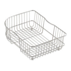 Kohler K-6521 Wire Rinse Basket for Executive Chef and Efficiency - Stainless