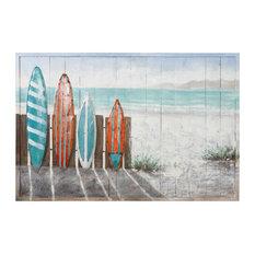Surfer's Paradise Mixed-Media Wall Art