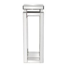 "Howard Elliott Mirrored Pedestal Table, 12""x12""x36"""