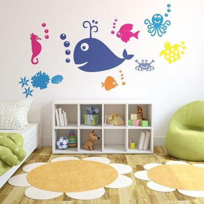 Clásico renovado Dormitorio infantil Vinilos infantiles de animales