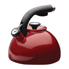 2-Quart Morning Bird Teakettle, Rhubarb Red