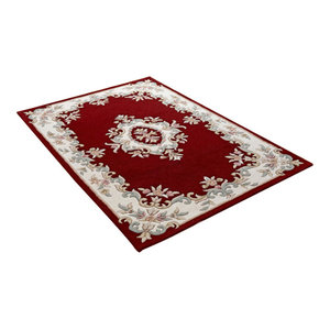 Royal Indian Red Rectangle Traditional Rug 120x180cm