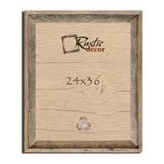 "Thurston Signature Reclaimed Rustic Barn Wood Wall Frame, 24""x36"""