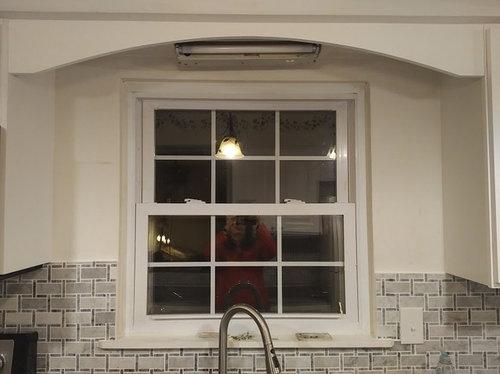 Uneven Backsplash Around Kitchen Window