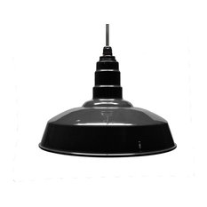 steel lighting co standard steel warehouse style pendant light black powder coat