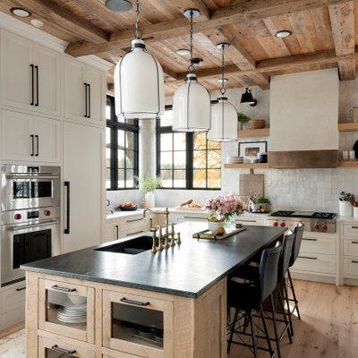 Mountain style kitchen photo in Minneapolis