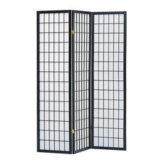 milton greens stars inc sam 3panel room divider black screens and