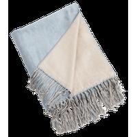 Reversible Design Classic Bamboo Throw Blanket, Aqua