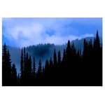 """J. Paul Moore - Blue's Hues Adhesive Art Print, 16""""x24"""" Landscape - Gone are the days of hanging prints with """"ghetto-tape"""" and """"trashy-tacks"""". These posters are printed on self-adhesive woven fabric. Like yoga pants, they look good with everything and effortlessly move with you. The next time you're tempted to buy a traditional paper poster, just say """"namastick""""."""