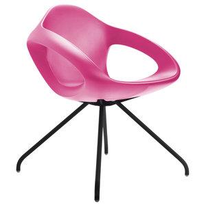 Easer Modern Armchair, Pink, Black Frame