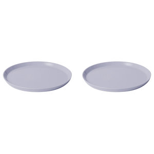 Large Porcelain Dinner Plates, Powder Blue, Set of 2