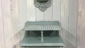 Breton-style bedside cabinets
