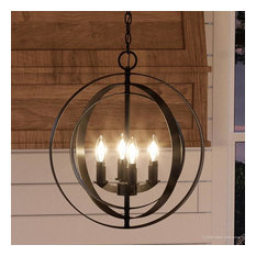 Luxury Industrial Chic Pendant Light, Arezzo Series, Olde Bronze