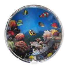 Fish in Ocean Decorative Glass Knob, Set of 8