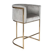"Mira Gold and Gray 26"" Counter Chair"