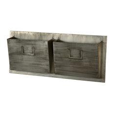 Metal Mailbox, Gray