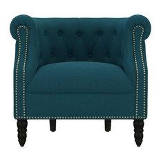 Casey Chair, Peacock Blue