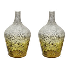 Dimond Home 876031/S2 Ombre Bottle, Set of 2, Yellow Ombre