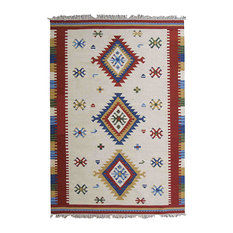 Kilim Classic White Patterned Floor Rug, 185x125 cm