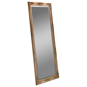Florence Leaning Wall Mirror, Gold, 74x163 cm