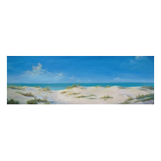 "Original 24"" X 72""  Tropical Seascape Oil Painting"