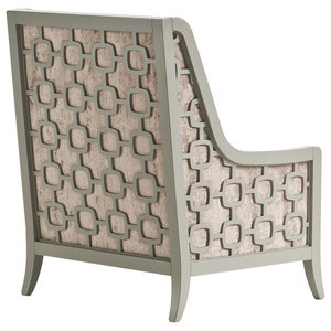 Camengo Armchair, Pearl White and Dove Grey