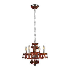 Worldwide Lighting W83100C16-CR Clarion 4 Light Candle Style Crystal Chandelier