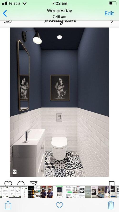 Tile Height Powder Room