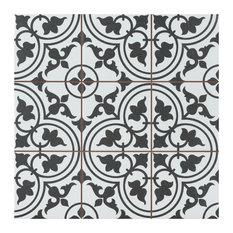 "SomerTile Harmonia Classic 13"" x 13"" Ceramic Floor and Wall Tile, White"