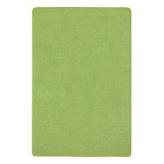 Kid Essentials Rug, Just Kidding, Lime Green, 6'x9'