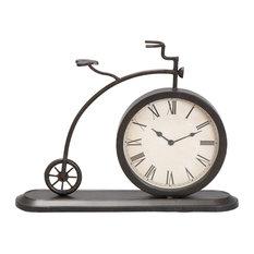Black Metal Vintage Clock, 4x14x19