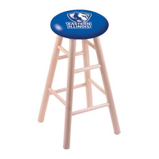 Maple Counter Stool Natural Finish With Eastern Illinois Seat 24-inch
