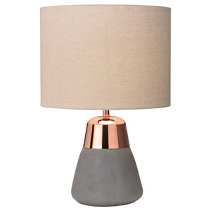 Jasper Table Lamp, Copper and Biscuit