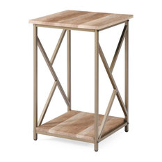 """Hodedah Side Table, Gold, 24.4"""""""